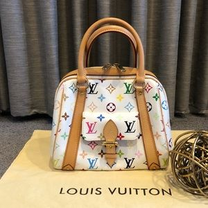 💯LOUIS VUITTON White Multicolore Priscilla Bag